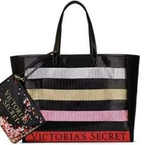 BLING Holiday Victoria's Secret Tote &  Clutch NEW